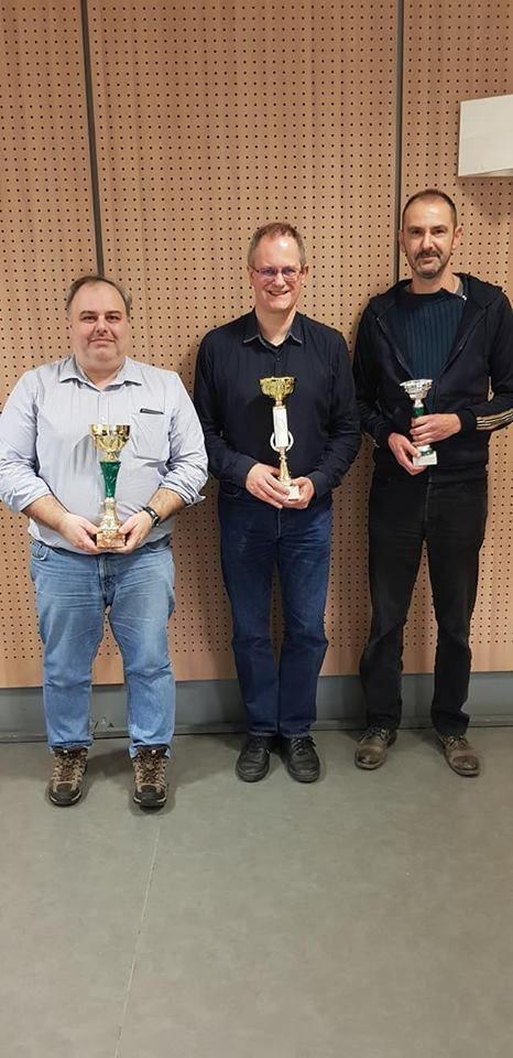 Le podium : Arnaud (2) Jean-Marc Durand (1) et Christophe Leclère (3) - (Photo FadaClub)