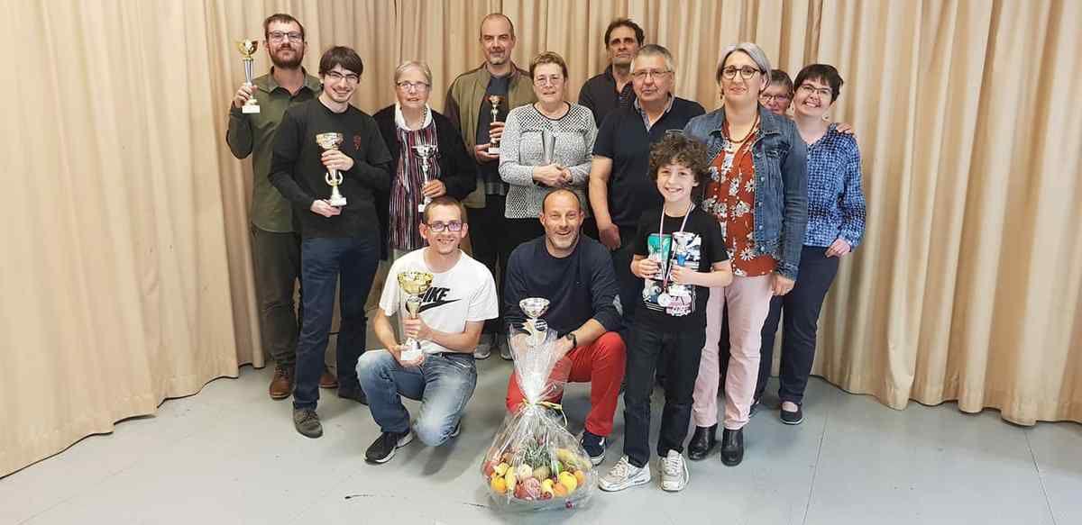 Les lauréats de cette 26e édition du tournoi de Verrines