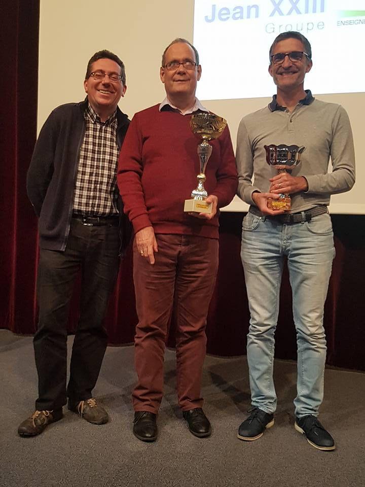 Le podium : Wilfrid Gauthier (3), Michel Jouaux (1) et Pierre Bernard (2)