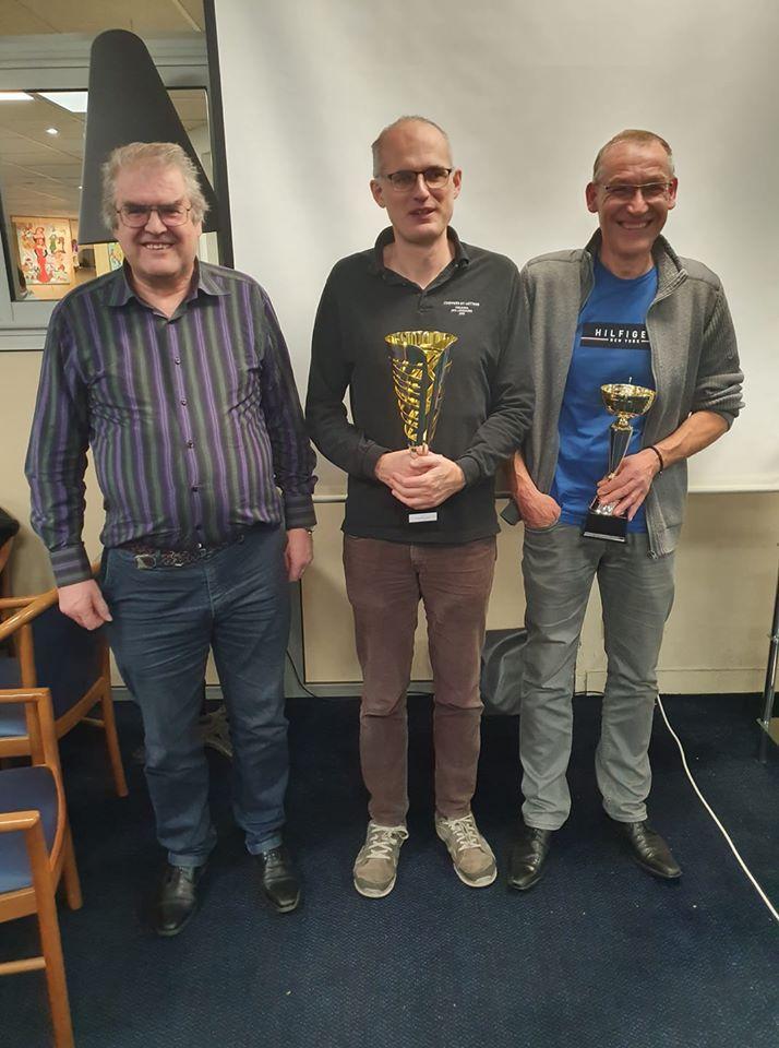 Le podium : Gilles Valdenaire (3), Olivier Suys (1) et Thierry Landemaine (2)