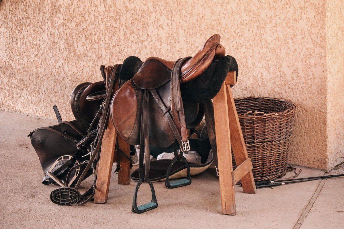 P Prettyia 1 Paire /Étriers dEquitation Anglais Selle de Cheval S/écurit/é avec Repose-Pieds