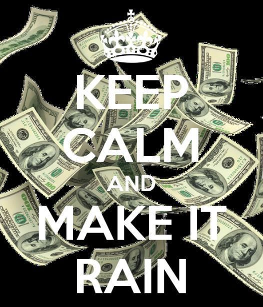 I'm making rain dude!