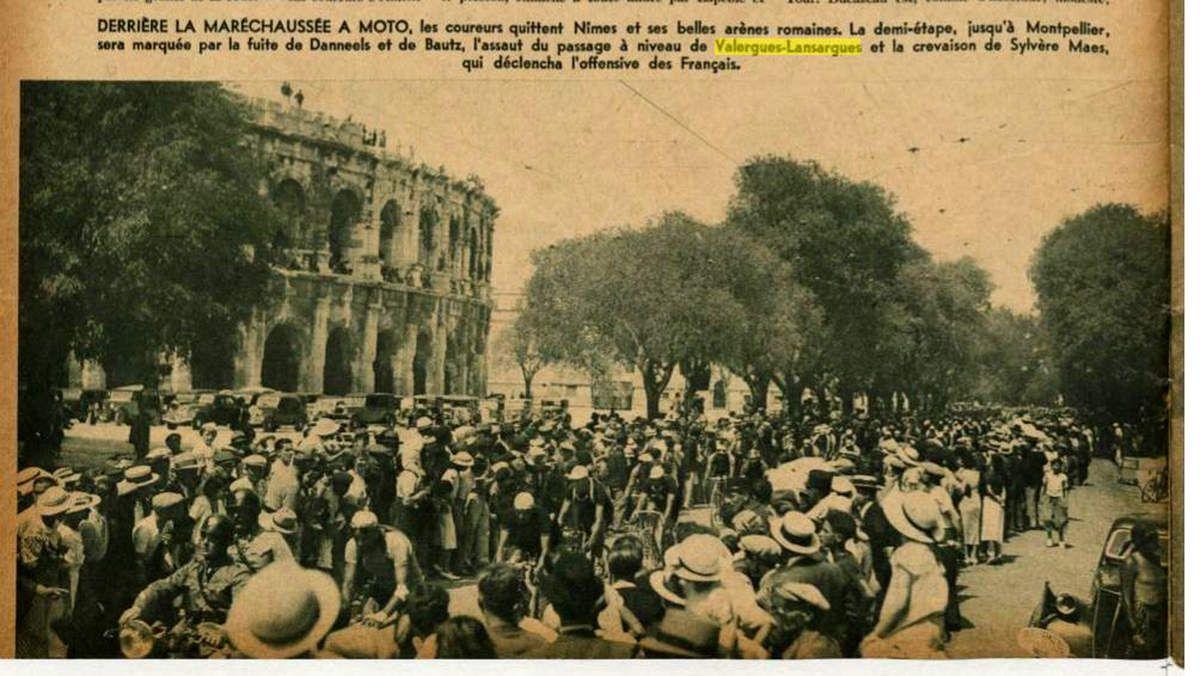 Les coureurs avaient pris le départ à Nîmes