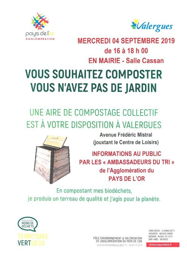 Aire de compostage collectif