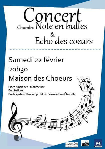 """La chorale l'Echo des Cœurs de Lansargues, au sein de laquelle chantent quelques valerguois, en concert à Montpellier  au profit de l'association """"Etincelle mieux vivre avec un cancer"""" maison d'accueil et d'accompagnement pour les personnes touchées par le cancer et leurs proches."""