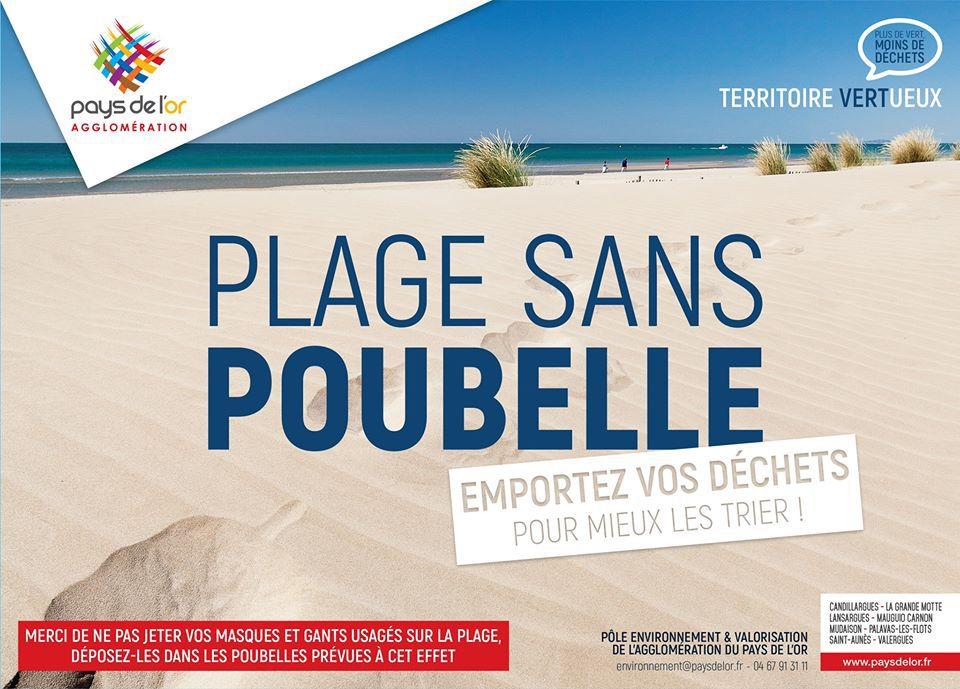 Pays de l'Or: campagne pour des plages sans poubelles