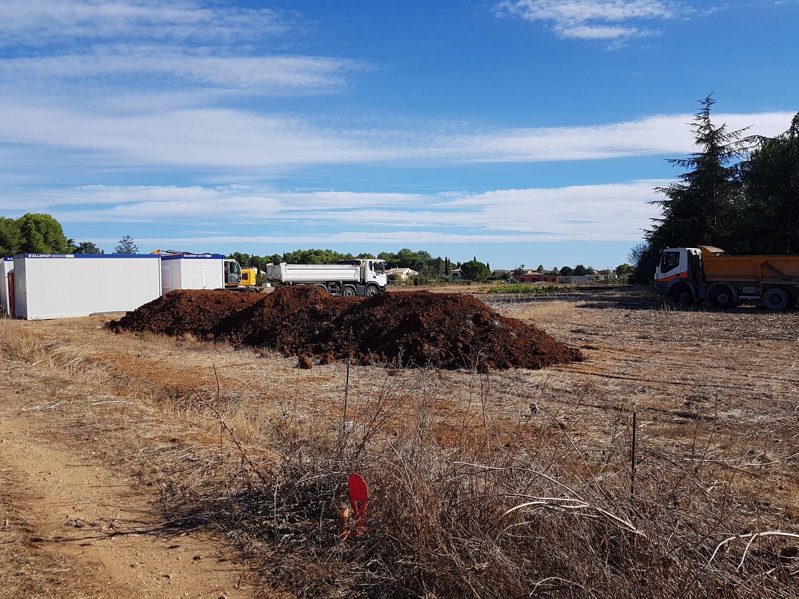 Un chantier de fouilles archéologiques a démarré aujourd'hui chemin du bourgidou