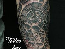 tatouage crane montre