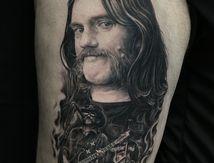 Lemmy Kilmister tattoo portrait