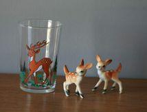 Verre ancien Bambi Années 70 - Vintage
