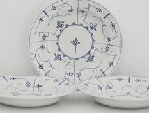 Lot de 3 assiettes Sarreguemines Copenhague Vintage