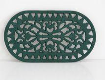 Dessous de plat en fonte vert fonçé Vintage