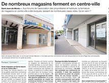 RÉACTIONS sur la fermeture des magasins en centre-ville de Saint-Jean de Monts.