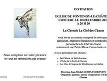 Concert de noël en l'église de Fontenoy le Château