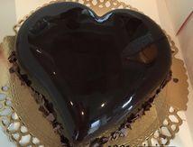 Le coeur aux 3 chocolats et glaçage miroir