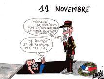dessin ceremonie du 11 novembre
