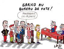 sarko à grillé la file d'attente du bureau de vote,mais sa candidature aussi....