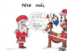 le père noël fait aussi des cadeaux à ses rennes....,