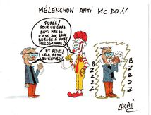 mélenchon anti mc donald's!!!