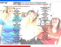 PLAYLIST ST LAURENT DE COGNAC 11/02/2017 - SHOW DES FRENCH COWGIRLS
