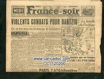 «Violents combats pour Dantzig La bataille du pacifique», France soir, 20/2/1945.