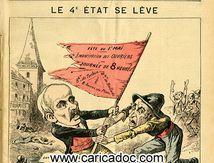 Le 4e état se lève, Pépin, Clemenceau, Le Grelot 1891