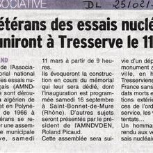 INFO: REVUE DE PRESSE/ DAUPHINÉ LIBÉRÉ