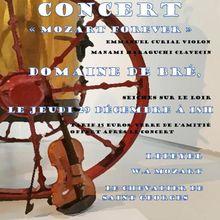 Concert de Noël au Domaine de Bré à Seiches-sur-le-Loir le 29/12 à 18h