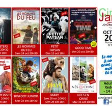 Les séances de cinéma à Jarzé en octobre 2017