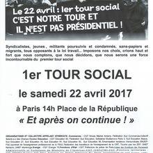 1er Tour social - 22 avril 2017