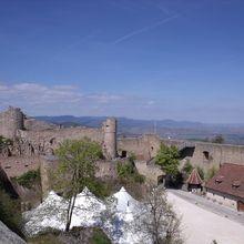 Hohlandsbourg castle in Alsace