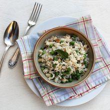 Parce qu'il nous faut du facile et du frais: Salade de riz aux petits pois et aux amandes