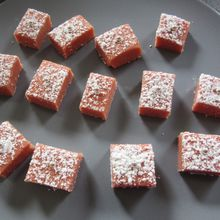Carrés aux biscuits roses de Reims