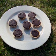 Bouchées caramel, chocolat et petits beurre
