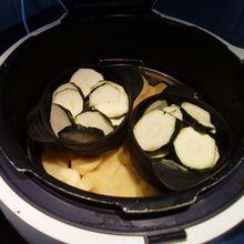 Double cuisson de légumes vapeur au cookéo ... c'est possible.