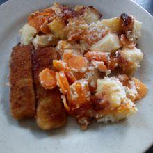 Gratin de pommes de terre et carottes