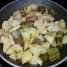 Crumble pommes rhubarbe au companion (ou pas)