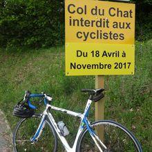 Début vélo de route au col du Chat