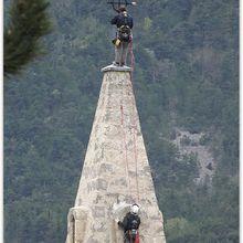 Barrême à l'assaut du clocher