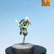 Commission: ONIWABAN Shinobu Kitsune  , infinity the game 28mm