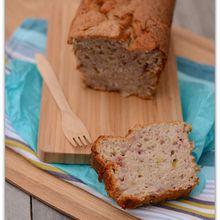 Cake au yaourt, rhubarbe/framboises