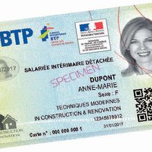 Une carte professionnelle matérialisée et sécurisée pour les agents de sécurité ? Le BTP en avance sur nous ...