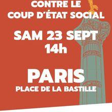 Le 23 septembre, 14 heures , Bastille !