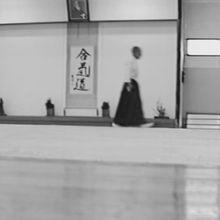 Ueshiba Kisshomaru Doshu au Hombu Dojo de l'Aikikai, 1994