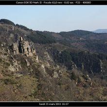 La grimpée du Château de Rochebonne, sur les hauteurs du Cheylard et de St Martin de Valamas