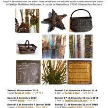 Les ateliers d'hiver à l'atelier à Villaines les Rochers animés par Marie-Hélène Métézeau
