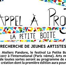 Appel à projets - Les ateliers Pandore - Paris (75)