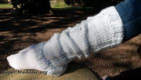 Modele de tricot gratuit : guêtres effet filé