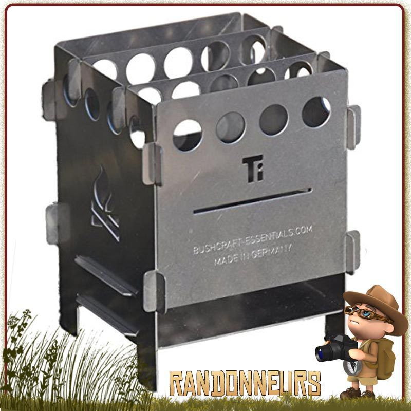 Réchaud bois Bushbox Titanium de Bushcraft Essentials