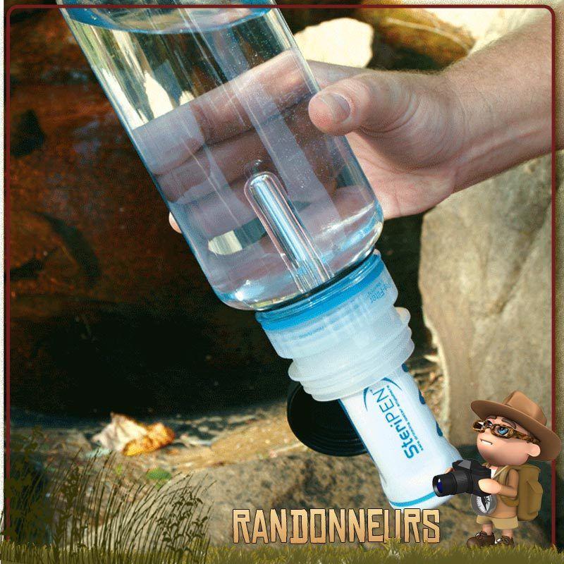 Traitement de purification d'eau potable dans une gourde Nalgene avec un Steripen Classic 3